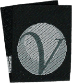 Image of a folded woven label